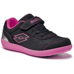 Lotto QUARANTA III CLS černá 33 - Dětská sportovně laděná obuv