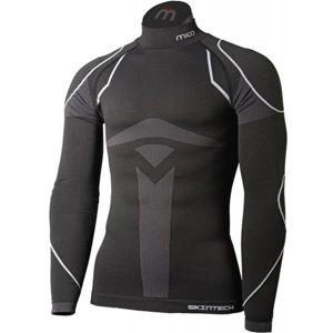 Mico LONG SLEEVES MOCK NECK SHIRT WARM SKIN černá L-XL - Pánské lyžařské spodní prádlo