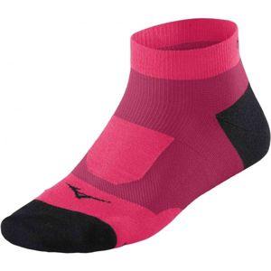 Mizuno DRYLITE SUPPORT MID růžová S - Ponožky