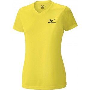 Mizuno DRYLITE TEE WOMENS žlutá M - Dámské běžecké triko