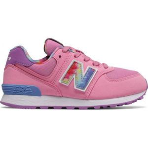 New Balance PC574TDP růžová 13.5 - Dětská volnočasová obuv