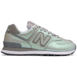 New Balance WL574KSC zelená 6 - Dámská volnočasová obuv