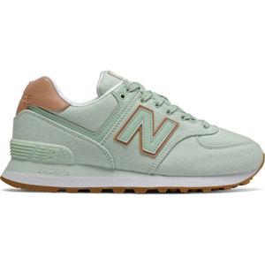 New Balance WL574SCD zelená 4.5 - Dámská volnočasová obuv