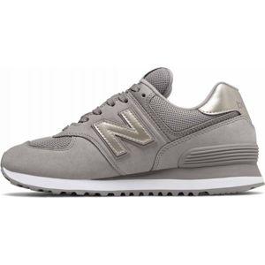 New Balance WL574WNK šedá 8 - Dámská vycházková obuv