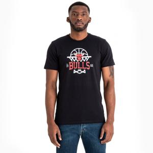 New Era NBA LEAGUE NET LOGO TEE CHICAGO BULLS černá XXL - Pánské triko