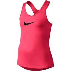 Nike G NP TANK růžová M - Dětský běžecký top