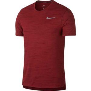 Nike MILER ESSENTIAL 2.0 červená L - Pánské běžecké triko