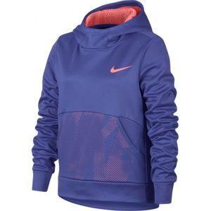Nike NK THERMA HOODIE PO ENERGY fialová XS - Dívčí sportovní mikina
