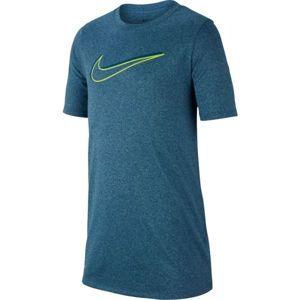Nike NK DRY LEG TEE 3D SWOOSH modrá L - Chlapecké sportovní triko