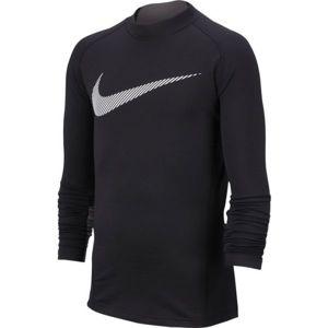 Nike NP LS THERMA MOCK GFX B černá XL - Chlapecký tréninkový top