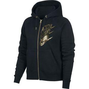 Nike NSW HOODIE FZ BB SHINE W černá L - Dámská mikina
