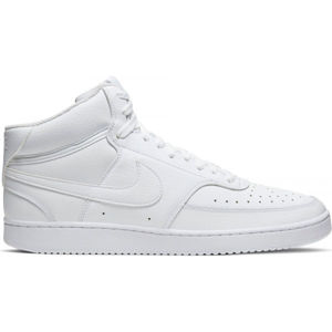 Nike COURT VISION MID bílá 11.5 - Pánská kotníková obuv