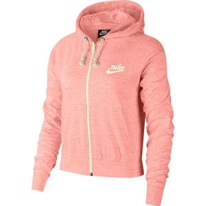 Nike SPORTSWEAR GYM VINTAGE oranžová L - Dámská mikina