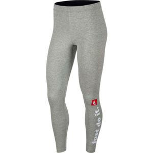 Nike NSW LGGNG CLUB W šedá XS - Dámské legíny