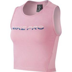 Nike NP CROP TANK VNR EXCL W růžová M - Dámský sportovní top