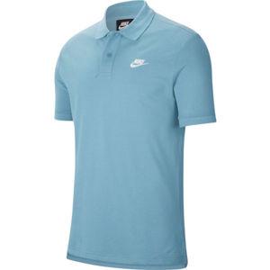 Nike SPORTSWEAR modrá M - Pánské polotričko