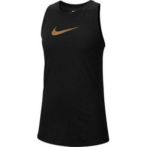 Nike DRY TANK SLUB ICON CLA W černá S - Dámské tréninkové tílko