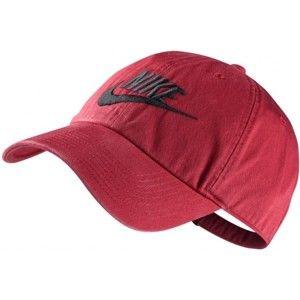 Nike FUTURA WASHED H86 červená UNI - Kšiltovka
