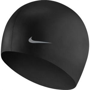 Nike SOLID SILICONE YOUTH černá NS - Dětská plavecká čepice