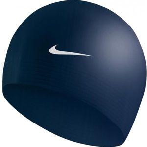 Nike SOLID SILICONE YOUTH tmavě modrá NS - Dětská plavecká čepice
