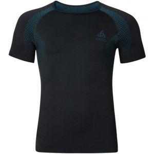 Odlo SUW MEN'S TOP S/S CREW NECK PERFORMANCE ESSENTIALS LIGHT černá XL - Pánské funkční triko