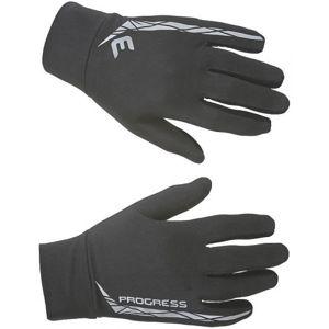 Progress RUN GLOVE černá S - Běžecké funkční rukavice