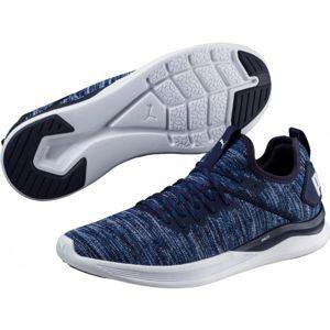 Puma IGNITE FLASH EVOKNIT modrá 9.5 - Pánská volnočasová obuv