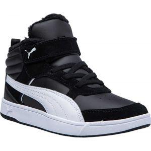 Puma REBOUND STREET V2 FUR PS černá 10 - Dětská volnočasová obuv