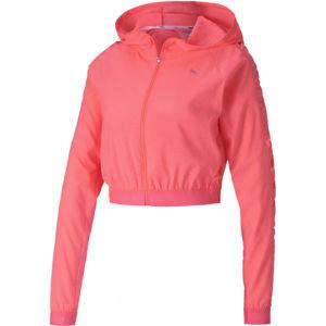 Puma BE BOLD WOVEN JACKET růžová S - Dámská sportovní bunda