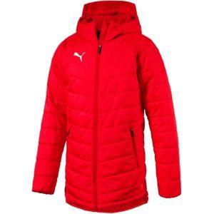 Puma LIGA SIDELINE BENCH JACKET červená M - Pánská zimní bunda