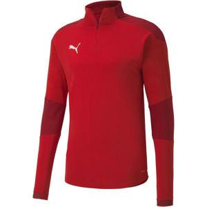 Puma TEAM FINAL 21 TRAINING 14 ZIP TOP červená XL - Pánské tréninkové triko