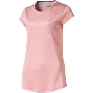 Puma ACTIVE LOGO HEATHER TEE růžová M - Dámské triko