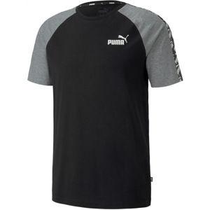 Puma APLIFIED  RAGLAN TEE černá XL - Pánské sportovní triko