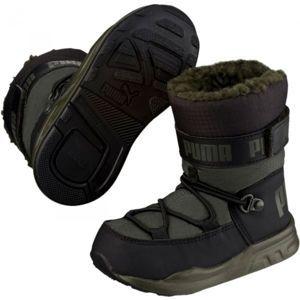 Puma KIDS TRINOMIC BOOT PS tmavě zelená 11 - Dětská zimní obuv