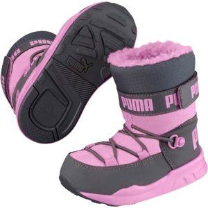 Puma KIDS TRINOMIC BOOT PS růžová 2.5 - Dětská zimní obuv