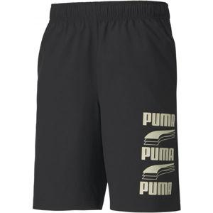Puma REBEL WOVEN SHORTS 9 černá XXL - Pánské šortky