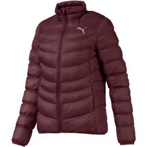 Puma ULTRALIGH WARMCELL JACKET vínová XS - Dámská sportovní bunda