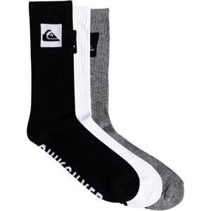 Quiksilver 3 CREW PACK bílá  - Trojbalení pánských ponožek