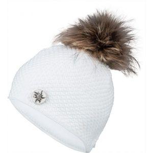 R-JET TOP FASHION ALPINKA bílá UNI - Dámská pletená čepice