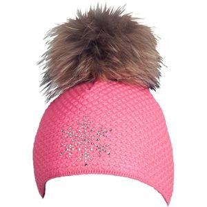 R-JET TOP FASHION BASIC růžová UNI - Dámská pletená čepice