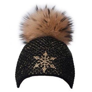 R-JET TOP FASHION EXCLUSIVE černá UNI - Dámská pletená čepice