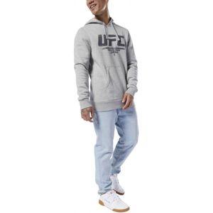 Reebok UFC FG PULLOVER šedá XXL - Pánská mikina