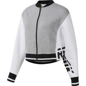 Reebok COLOR BLOCKED TRACKSUIT TOP bílá M - Sportovní dámská bunda