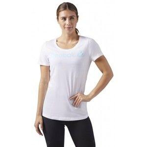 Reebok REEBOK LINEAR READ SCOOP NECK bílá M - Dámské sportovní tričko