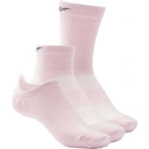 Reebok TE ALL PURPOSE SOCK 3P růžová M - Ponožky
