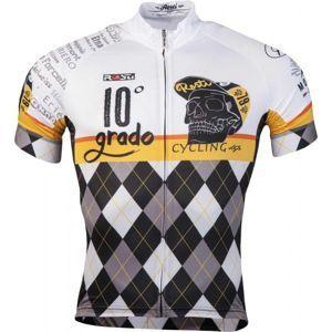 Rosti GRADO DL ZIP bílá 5xl - Pánský cyklistický dres