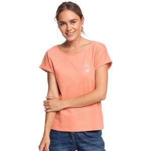 Roxy BLUE LAGOON VIEW oranžová XS - Dámské tričko
