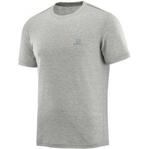 Salomon EXPLORE SS TEE M šedá L - Pánské outdoorové tričko