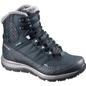 Salomon KAINA MID GTX tmavě modrá 4 - Dámská zimní obuv