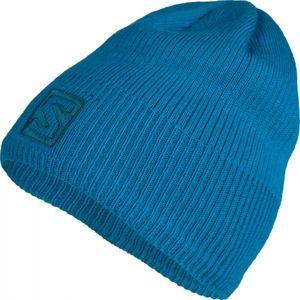 Salomon LOGO BEANIE modrá UNI - Zimní čepice